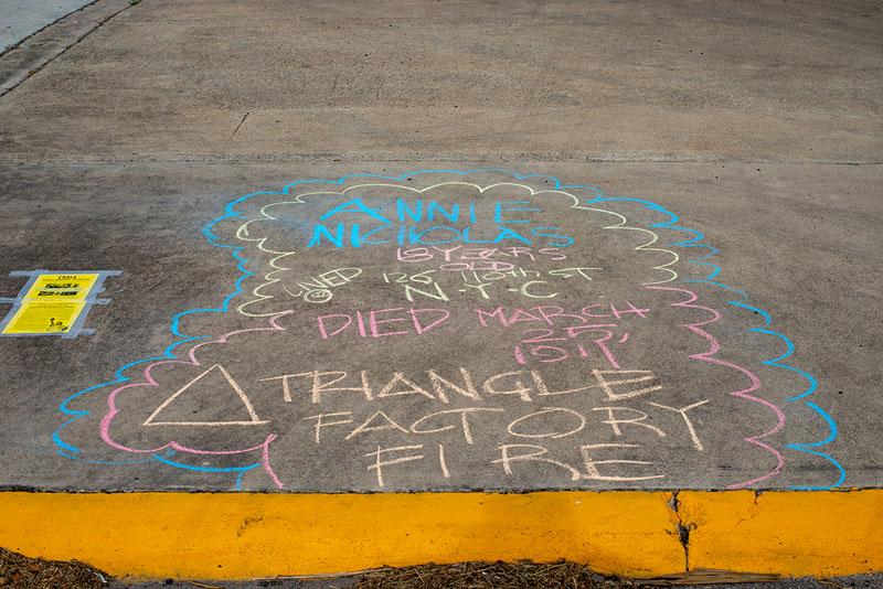 Ernesto L Martinez chalks for Annie Nicholas
