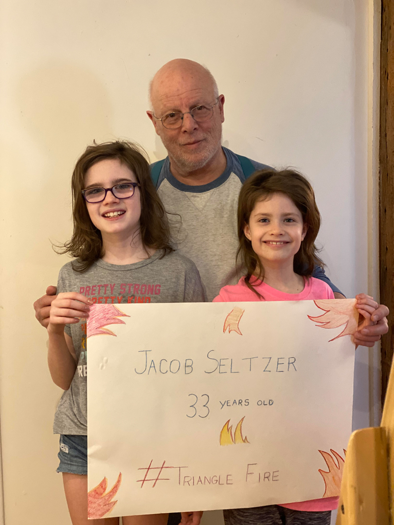 Jack Robinson, Firefighter with granddaughters Jojo & Ginny