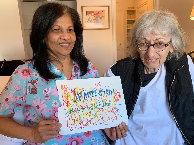 Rona Doorry, Homecare Worker & Betty Odabashian, Artist