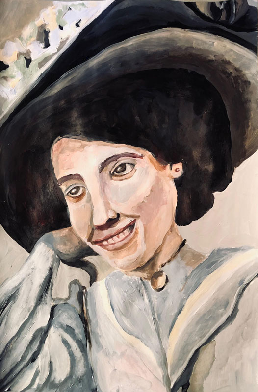Susan Young painted the portrait of Rose Oringer